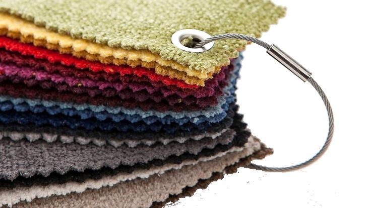 Campionario tessuti di diversi colori