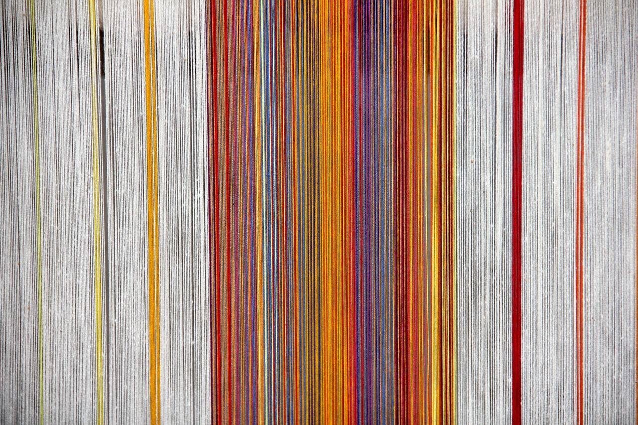 Trama tessuto multicolore